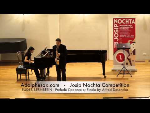 JOSIP NOCHTA COMPETITION EUDES BERNSTEIN Prelude Cadence et Finale by Alfred Desenclós