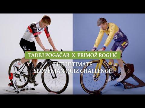 Cycling superstars Pogačar & Roglič test their knowledge of...