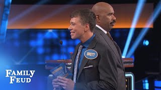 Well, THIS QUESTION ain't gonna ASK ITSELF! | Celebrity Family Feud | OUTTAKE