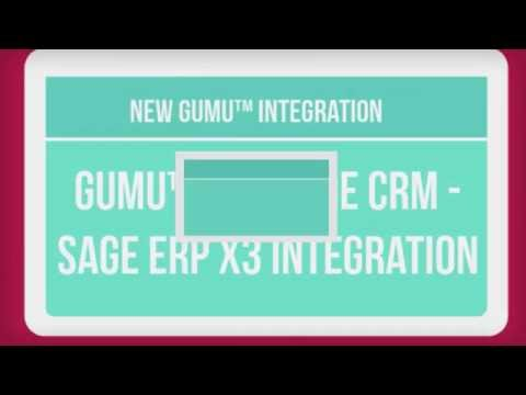 GUMU Sage ERP X3 integration with Sage CRM - Introduction