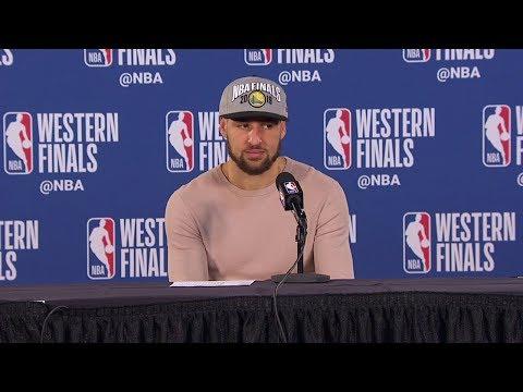 Klay Thompson Postgame Interview - Game 4 | Warriors vs Blazers | 2019 NBA Playoffs