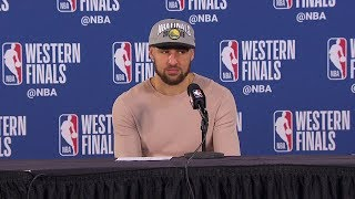 Klay Thompson Postgame Interview - Game 4 | Warriors vs Blazers | 2019 NBA Playoffs