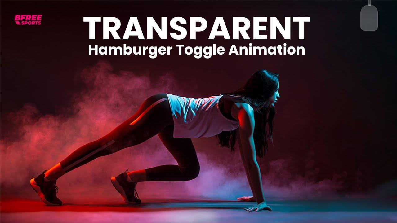 Transparent Hamburger Pull Out Toggle Menu Animation effect using HTML CSS JS