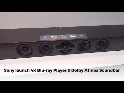 Sony UBP-X800 4K Blu ray player and Atmos soundbar