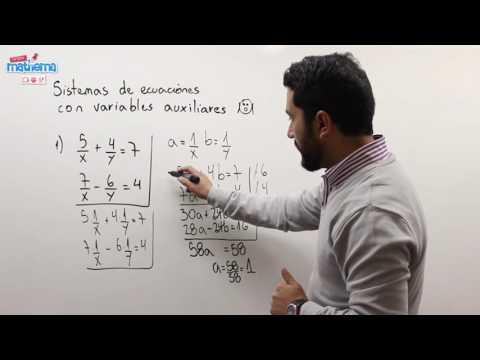 Sistemas de ecuaciones con variables auxiliares 1