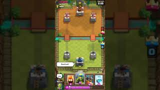 Playing hacked version of clash royale
