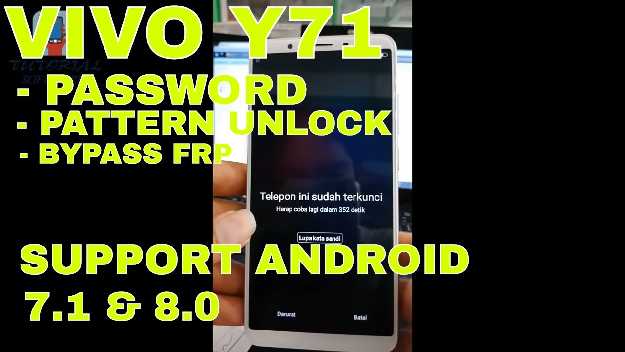 New!! wipe data vivo Y71/Y65 Lupa Pola Pin 100% DONE