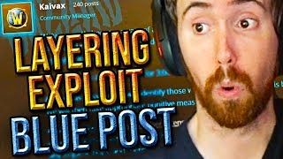 Asmongold Reacts To Layering Exploit BLUE POST & Tips Out Discussion Video (Classic WoW)