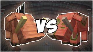 Hoglin vs Zoglin - Minecraft Mob Battle