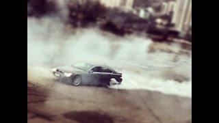 BMW 7 Series Drifting, Burnout.