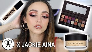 TRYING NEW ANASTASIA MAKEUP | Foundation Wear Test + Jackie Aina Palette!!!!!!!