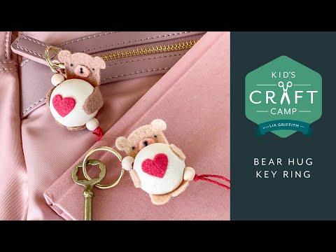 Bear Hug Keychains | Kid's Craft Camp