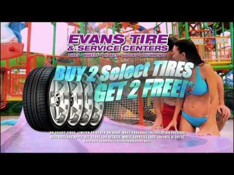 Evans Tire - Buy 2 Get 2 Sale - Splash Kingdom Promotion