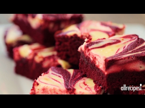 Valentine Recipes - How to Make Red Velvet Cheesecake Swirl Brownies