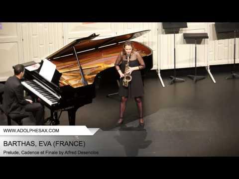 Dinant 2014 - BARTHAS Eva (Prelude, Cadence et Finale by Alfred Desenclos)
