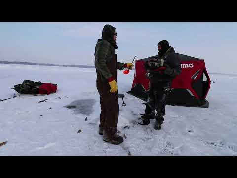 ICE FISHING. 2021. First time out on the ice this season.