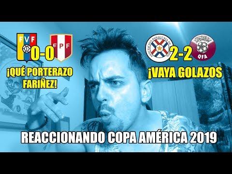 PARAGUAY 2-2 QATAR · VENEZUELA 0-0 PERÚ · REACCIONANDO A LAS JUGADAS Y GOLES