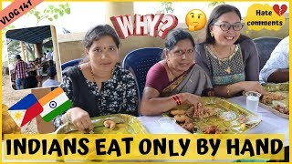 WHY INDIANS EAT ONLY BY HAND II Filipino Indian Family Vlog # 141