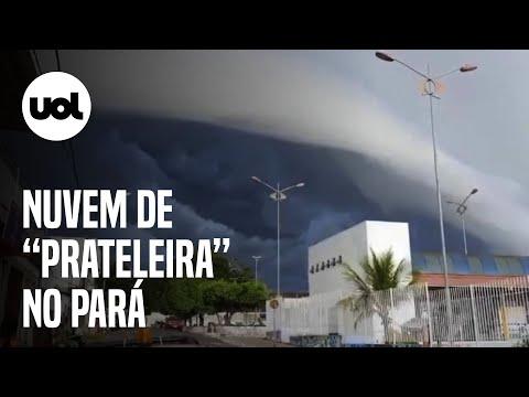 Nuvem 'prateleira' toma o céu de Juruti no Pará