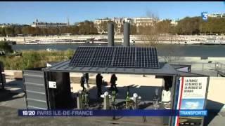 Le vélo électrique expérimente la charge par induction à Paris