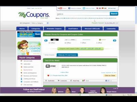 How To Use Geico Coupon Codes