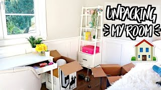 UNPACKING MY ROOM!! MOVING VLOGS!!