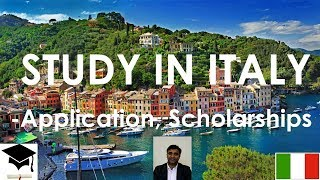 Study in Italy,  Masters and Bachelors, Free Education, Scholarships, Application  Procedure, Visa