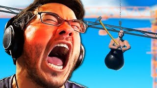 I LITERALLY THROW A CHAIR IN RAGE | Getting Over It - Part 1