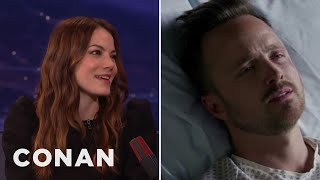 Michelle Monaghan: Aaron Paul And I Are Very Unprofessional  - CONAN on TBS