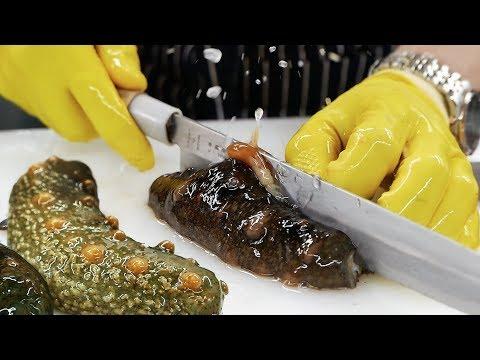 韓國路邊小吃 - 海參生魚片 海鮮