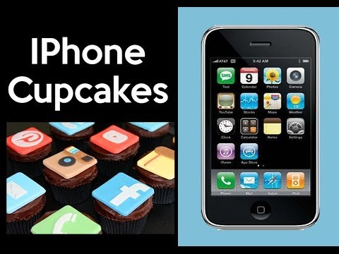Giant Iphone Cake Social Media Cupcakes By Cupcake