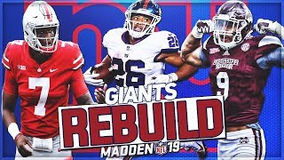 Rebuilding The *NEW* New York Giants | Dwayne Haskins Becomes Franchise QB | Madden 19 Franchise