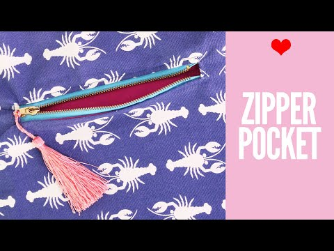 How to Sew a Zipper Pocket for Bags