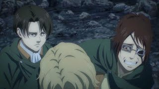 Levi and Hange being a comedic duo (mostly teasing each other)