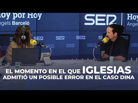 Iglesias admitió un posible error en el caso Dina en una entrevista con Àngels Barceló