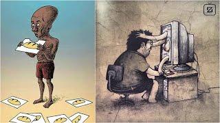30+ Bức tranh biếm họa lột tả sự thật về cuộc sống khiến bạn phải giật mình | #01