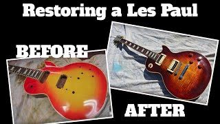 Trashed Gibson Les Paul Guitar is Rebuilt