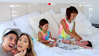 BABYSITTING NEWBORN BROTHER ALONE...YOU WON'T BELIEVE WHAT THEY DID!!! **HIDDEN CAMERA**