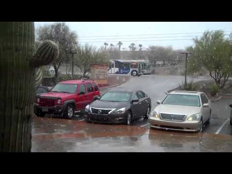 Snowing in Tucson AZ - Feb 20, 2013