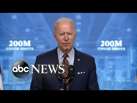 ABC News Live Update: Biden announces more than 200M vaccines have been administered