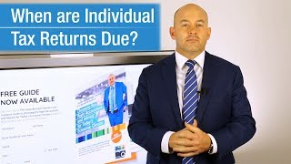 When Are Tax Returns Due for Individuals in Australia