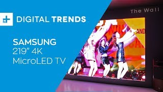 Samsung 219 Inch 4K MicroLED TV - Hands On at CES 2019