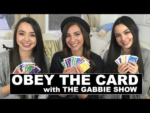 OBEY THE CARD CHALLENGE w/ The Gabbie Show - Merrell Twins - Quelf