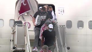National champs Alabama return to Tuscaloosa