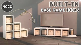 💡 BASE GAME BUILD-IN IDEAS • Functional👍   No CC or Mods   The Sims 4 Building Tutorial