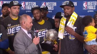 Trophy Presentation Ceremony - 2018 NBA Western Conference Finals