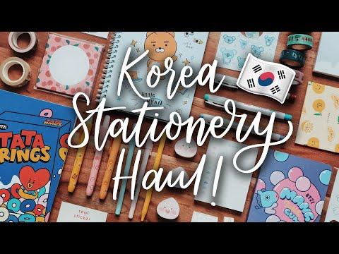 Korea Stationery Haul! (HUGE Giveaway!)