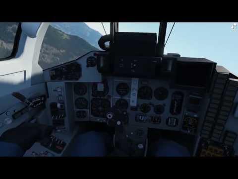 Outerra + FreeTrack IR cap test - MiG 29