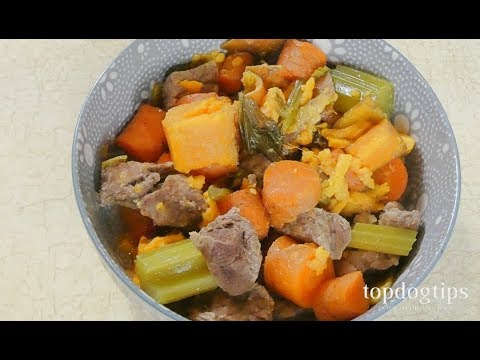 Beef and Barley Stew for Dogs