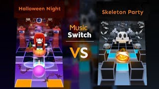 Rolling Sky - Halloween Night VS Skeleton Party (Music Switch) | SHAvibe